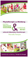 Praxisflyer Physiotherapie am Weinberg