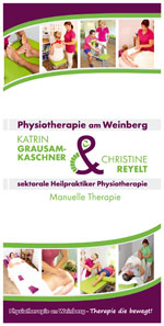 Flyer Physiotherapie am Weinberg